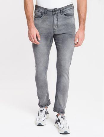 Calca-Jeans-Masculina-Five-Pockets-Athletic-Taper-Cintura-Baixa-Cinza-Medio-Calvin-Klein