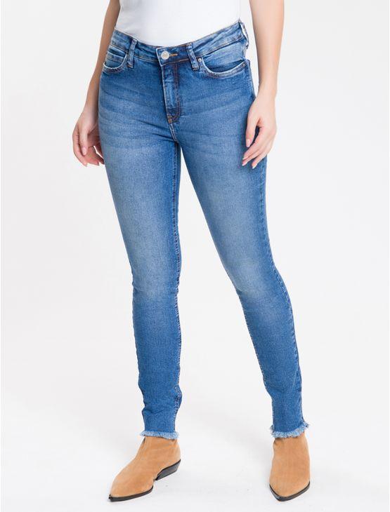 Calca-Jeans-Feminina-Five-Pockets-Super-Skinny-Cintura-Media-Azul-Medio-Calvin-Klein