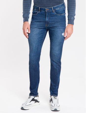 Calca-Jeans-Masculina-Five-Pockets-Super-Skinny-Cintura-Baixa-Azul-Marinho-Calvin-Klein