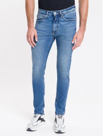 Calca-Jeans-Masculina-Five-Pockets-Super-Skinny-Cintura-Baixa-Azul-Medio-Calvin-Klein