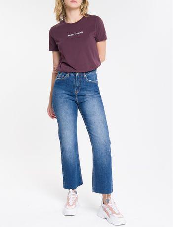 Calca-Jeans-Feminina-Five-Pockets-Reta-Cintura-Alta-Azul-Marinho-Calvin-Klein