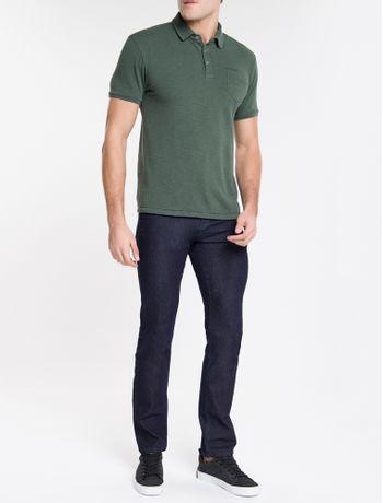 Calca-Jeans-Masculina-Five-Pockets-Reta-Cintura-Regular-Azul-Marinho-Calvin-Klein
