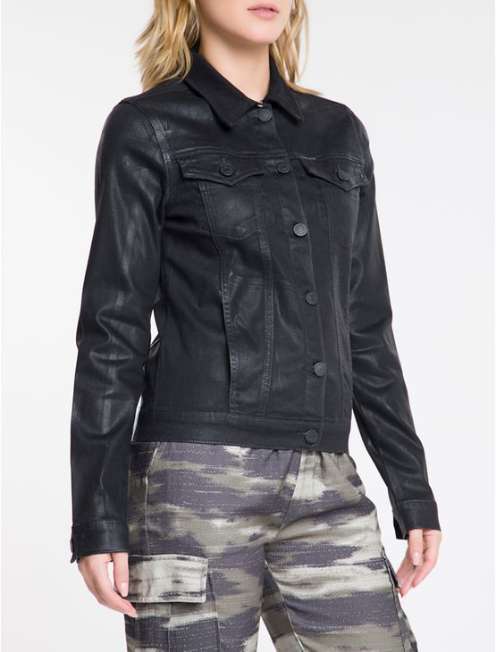 Jaqueta-Jeans-Feminina-Trucker-Preta-Calvin-Klein