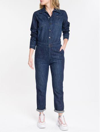 Macacao-Jeans-Feminino-Manga-Longa-Azul-Marinho-Calvin-Klein
