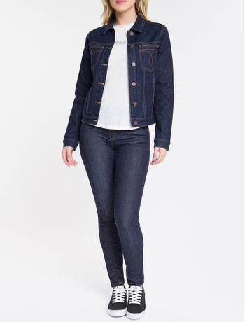 Jaqueta-Jeans-Feminina-Slim-Azul-Marinho-Calvin-Klein