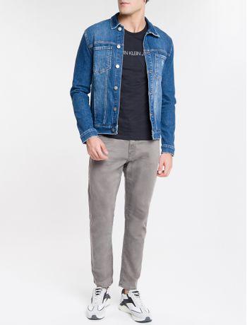 Jaqueta-Jeans-Masculina-Trucker-Azul-Medio-Calvin-Klein
