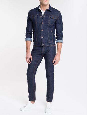 Jaqueta-Jeans-Masculina-Trucker-Azul-Marinho-Calvin-Klein
