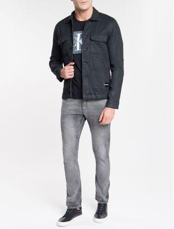 Jaqueta-Jeans-Masculina-Trucker-Preta-Calvin-Klein