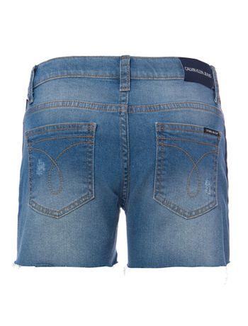 Shorts-Jeans-Infantil-Feminino-Five-Pockets-Azul-Claro-Calvin-Klein