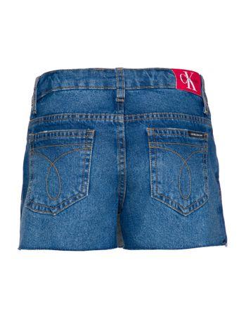 Shorts-Saia-Jeans-Infantil-Feminino-Five-Pockets-Azul-Medio-Calvin-Klein