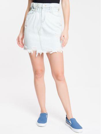 Saia-Jeans-Feminina-Azul-Clara-Calvin-Klein