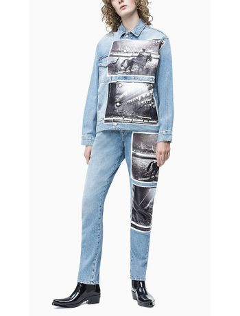 Jaqueta-Jeans-Feminina-Andy-Warhol-Rodeo-Azul-Claro-Calvin-Klein