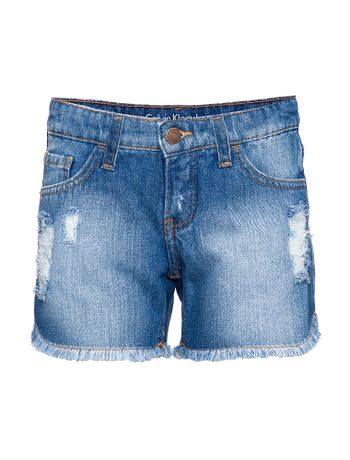 Shorts-Jeans-Infantil-Feminino-Five-Pockets-Azul-Medio-Calvin-Klein