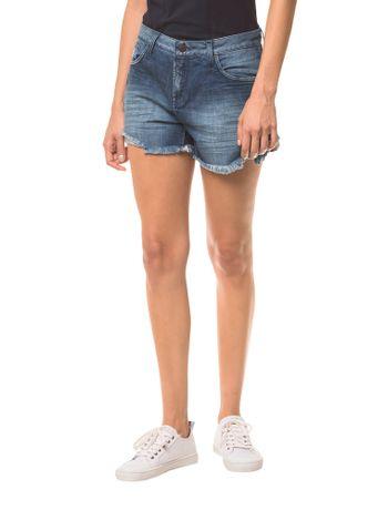 Shorts-Jeans-Feminino-Five-Pockets-Azul-Marinho-Calvin-Klein