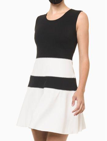 Vestido-Rodado-Calvin-Klein---Preto---PP