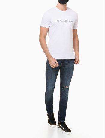 Camiseta-Ckj-Mc-Embossed---Branco---G