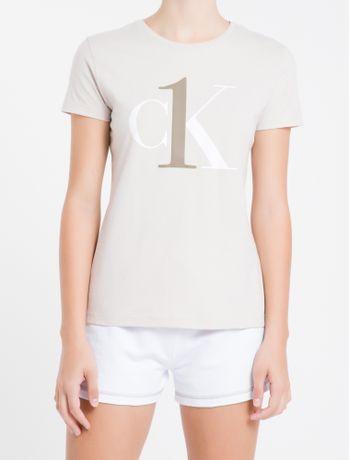 Camiseta-Fem-Alg-Ck-One-Loungewear---Caqui---M