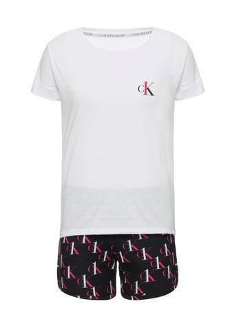 Pijama-Short-Doll-Ck-One-Sleepwear-Infan---Preto---4-6