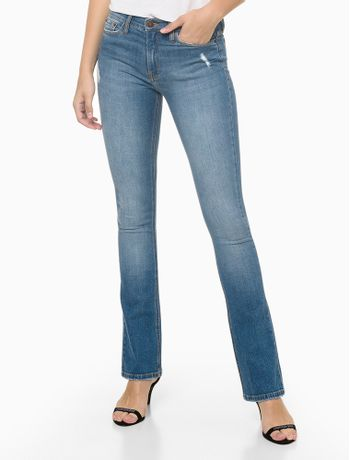 Calca-Jeans-Five-Pockets-Kick-Flare---Azul-Medio---34