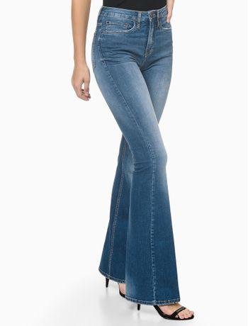 Calca-Jeans-Five-Pockets-High-Rise-Flare---Azul-Medio---36