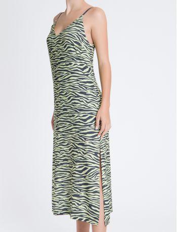 Vestido-Sm-Longo-Reto-Visc-Full-Zebra---Amarelo-Claro---36