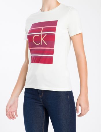 Camiseta-Calvin-Klein-Listras---Rosa---PP