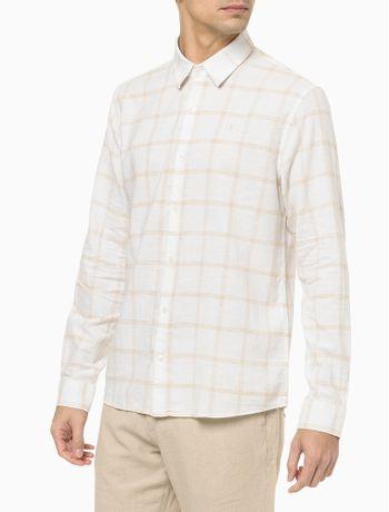 Camisa-Ml-Regular-Cannes-Xadrez-Linen---Branco---1