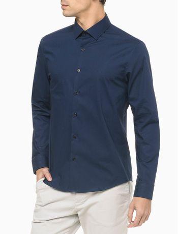 Camisa-Reg-Ml-Cannes--Fio-40-1-Stretch---Azul-Marinho---1