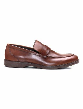 Sapato-Social-Loafer-De-Couro---Marrom---38