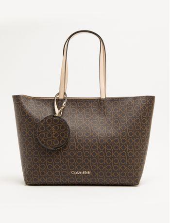 Bolsa-Shopping-Bag-Monograma-Ck---Marrom---U