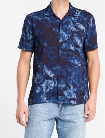 Camisa-Mc-Reg-Print-Havaia-Abstract---Azul-Marinho---P