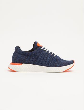Tenis-Baixo-Runner-Tricot-Liso---Azul-Marinho---37