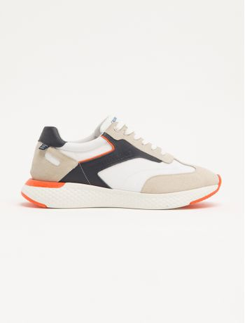 Tenis-Baixo-Runner-Nylon-Liso-Com-Recort---Branco---37