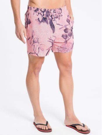 Shorts-Dagua-Estamp-Microelast-Floral---Laranja---P