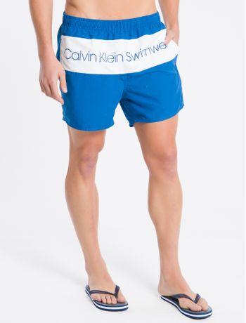 Shorts-Dagua-Regular-Liso-Micro-Logo---Azul-Medio---P