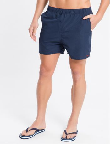 Shorts-Dagua-Regular-Liso-Micro-Basico---Azul-Marinho---P