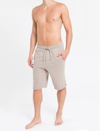 Bermuda-Masc-Moletom-Ck-One-Loungewear---Caqui---P