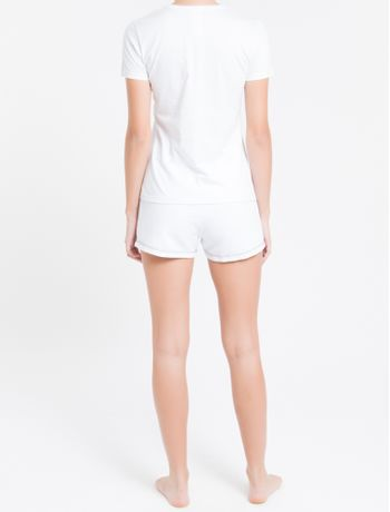Short-Fem-Piquetom-Ck-One-Loungewear---Branco---P