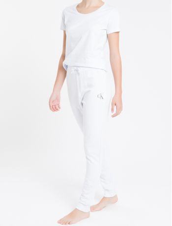 Calca-Fem-Piquetom-Ck-One-Loungewear---Branco---P