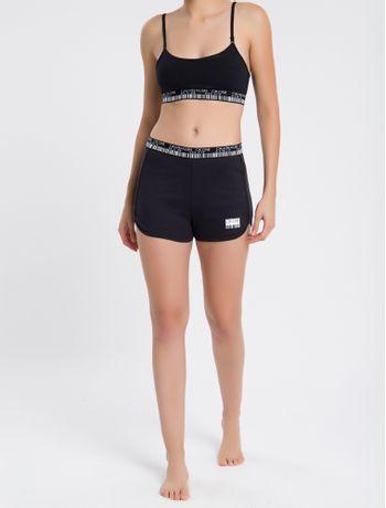 Short-Feminino-Ck-One-Barcode-Loungewear---Preto---M