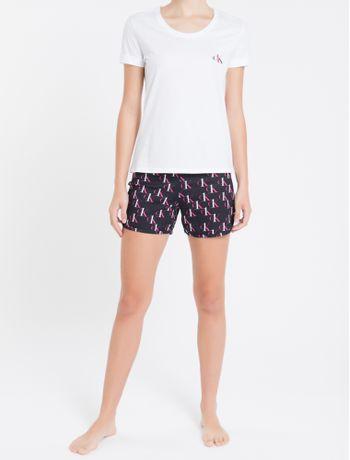 Pijama-Fem-Short-Doll-Estampa-Ck-One---Preto---M