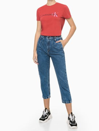 Blusa-Mc-Slim-Reat-Gc-Logo-Calvin-Ck---Vermelho---P