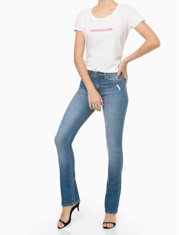 Calca-Jeans-Five-Pockets-Kick-Flare---Azul-Medio---34