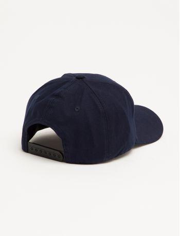 Bone-Ckj-Aba-Curva-5-Gomos-Lona-Logo-Pla---Azul-Marinho---U