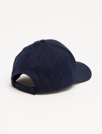 Bone-Ckj-Aba-Curva-6-Gomos-Lona-Logo-Fiv---Azul-Marinho---U