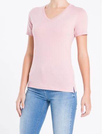 Camiseta-Decote-V-Ck-Abertura-Lateral---Rosa---PP