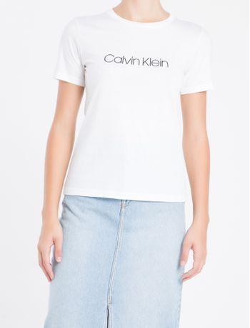 Camiseta-Gola-Careca-Calvin-Klein---Branco---P