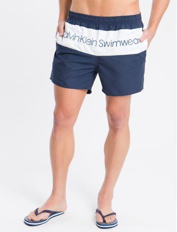 Shorts-Dagua-Regular-Liso-Micro-Logo---Azul-Marinho---P