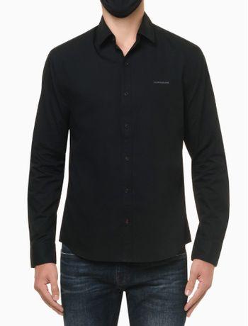 Camisa-ML-Reg-Liso-Sbols-N-D---Preto---P