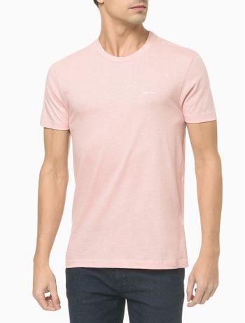 Camiseta-Slim-Flame-Calvin-Klein---Rosa-Claro---GG